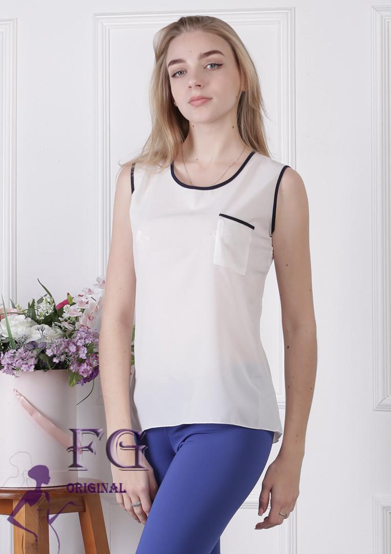 Майка-блузка «Оливия»| Белый
