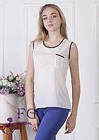 Майка-блузка «Оливия»| Белый, фото 1