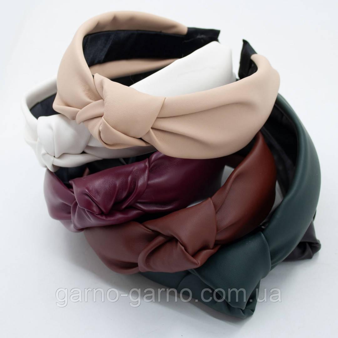 Ободок модный с узелком. ободок Чалма. эко-кожа разные цвета