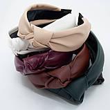 Ободок модный с узелком обруч Чалма эко-кожа разные цвета, фото 3