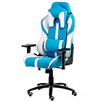 Кресло геймерское Special4You Extremerace Light Blue-White (E6064)