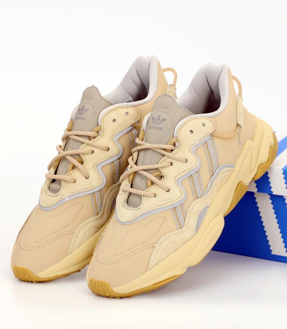 Мужские кроссовки Adidas Ozweego Beige (Адидас Озвиго)