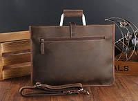 Мужская кожаная сумка. Модель DM-10, фото 7