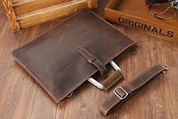 Мужская кожаная сумка. Модель DM-10, фото 8