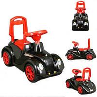Детская Машинка-Толокар Орион Черная С Красным (Ретро 900_Ч)