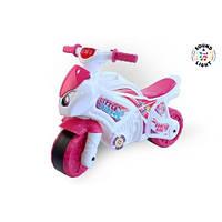 Детский Мотоцикл Толокар Технок Белый С Розовым (Мотоцикл 6368)