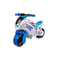 Детский Мотоцикл Толокар Технок Белый С Синим (Мотоцикл)