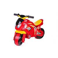Детский Мотоцикл Толокар Технок Красный С Желтым (Мотоцикл)