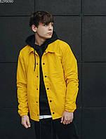 Куртка ветровка мужская с капюшоном Staff yellow F