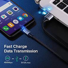 Оригінальний кабель UGREEN US290 MicroUSB Fast Charge 3A швидка зарядка 60146 Black, фото 2