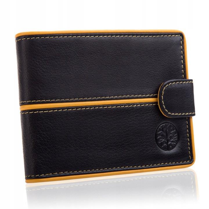 Шкіряний чоловічий гаманець BETLEWSKI з RFID 9,8 х 12,5 х 2,5 (BPM-3DP-60) - чорний