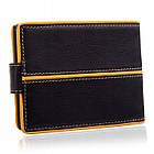 Шкіряний чоловічий гаманець BETLEWSKI з RFID 9,8 х 12,5 х 2,5 (BPM-3DP-60) - чорний, фото 2