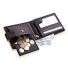 Шкіряний чоловічий гаманець BETLEWSKI з RFID 9,8 х 12,5 х 2,5 (BPM-3DP-60) - чорний, фото 3