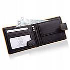 Шкіряний чоловічий гаманець BETLEWSKI з RFID 9,8 х 12,5 х 2,5 (BPM-3DP-60) - чорний, фото 4