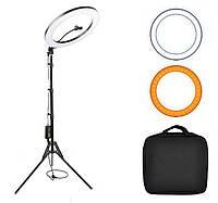 Кольцевая светодиодная Led Лампа 45 см 65 Вт, штатив 200 см / кольцевой свет, селфи лампа / цвет черный