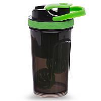 Шейкер для спортивного харчування TOP SHAKER BOTTLE FI-1869 Зелений