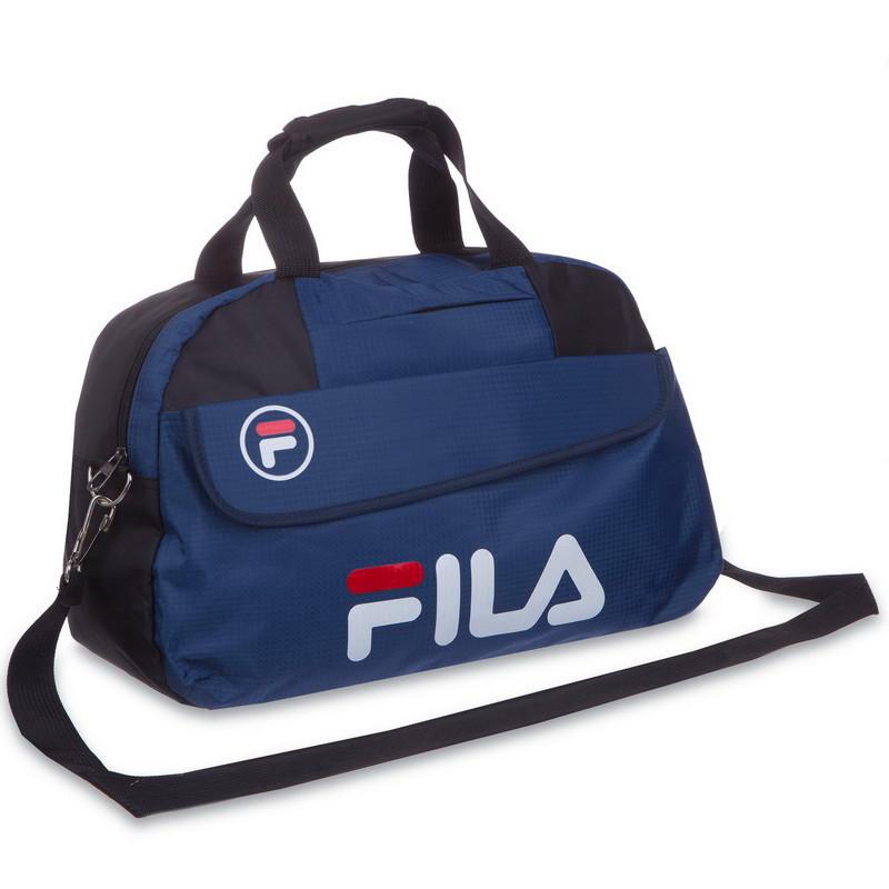 Сумка спортивная FILA (42х20х27см) темно-синяя 8196