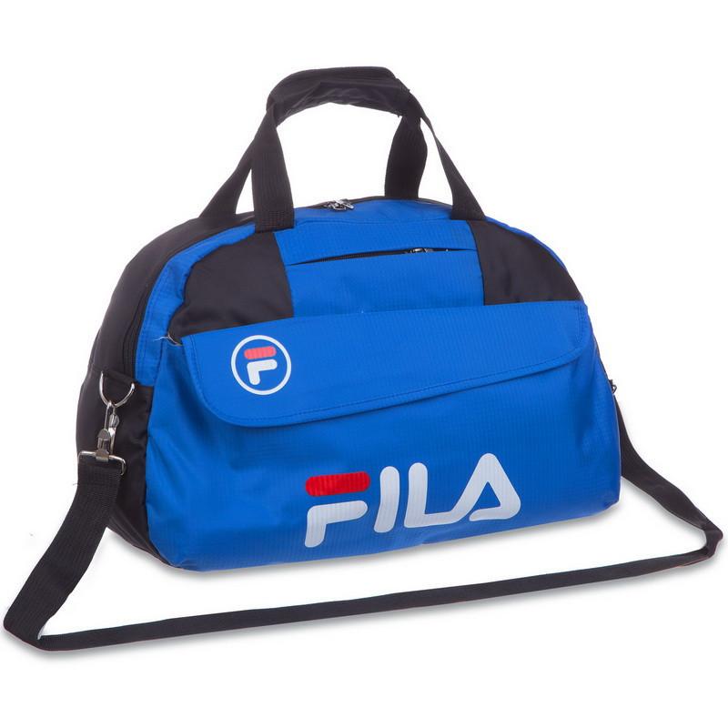 Сумка спортивная FILA (42х20х27см) синяя 8196