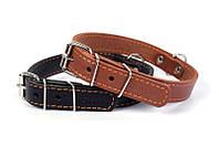 Нашийник для собак COLLAR одинарний 20мм/32-40см 01336, коричневий