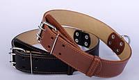 Нашийник для собак COLLAR подвійний 45мм/56-68см 03596, коричневий