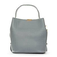 Удобная сумка женская из голубой искусственной кожи (19,5*19*11,5 см) FASHION, 1-04 9870 blue