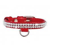 COLLAR ошийник brilliance зі стразами для собак малих порід, ширина 9мм, довжина 19-25см, 33073, червоний