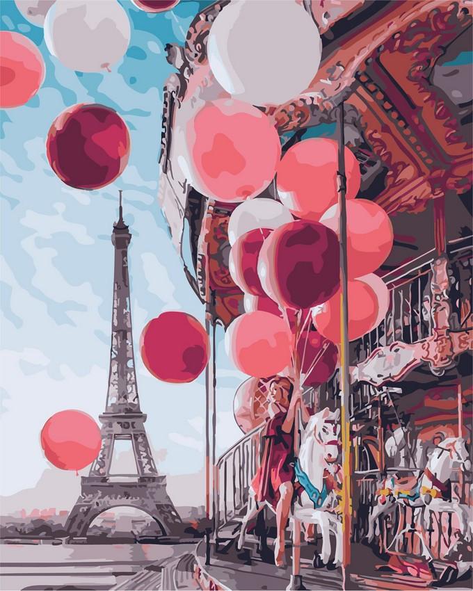 "Картина по номерам. Rainbow Art ""Парижская карусель"" GX24914-RA"