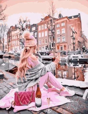 """Картина по номерам. Rainbow Art """"Каналы Амстердама"""" GX34409-RA"""