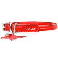 COLLAR ошийник GLAMOUR круглий для довгошерстих собак, ширина 6 мм, довжина 17-20см червоний 22263