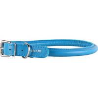 Ошейник COLLAR GLAMOUR круглый для длинношерстных собак, ширина 13мм, длина 33-41см голубой 35052