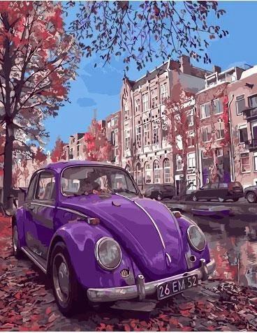 """Картина по номерам. Rainbow Art """"Фиолетовый жук"""" GX32848-RA"""