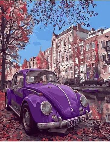 "Картина по номерам. Rainbow Art ""Фиолетовый жук"" GX32848-RA, фото 2"