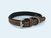 Нашийник для собак COLLAR SOFT коричневий верх 7189, ширина 20мм, довжина 30-39див