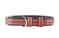 Нашийник для собак COLLAR SOFT коричневий верх 7203, ширина 25мм 7203, довжина 38-49см
