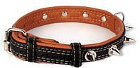 Ошейник для собак COLLAR SOFT с шипами чёрный верх 7212, ширина 35мм, длина 46-60см