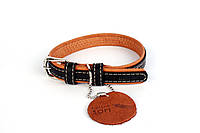 Нашийник для собак COLLAR SOFT чорний верх 7188, ширина 15мм, довжина 27-36см