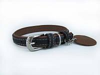 Ошейник для собак COLLAR SOFT черный верх 7216, ширина 35мм, длина 57-71см