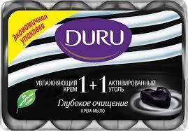 Туалетное мыло Duru 1+1 (4*90) Активированный уголь