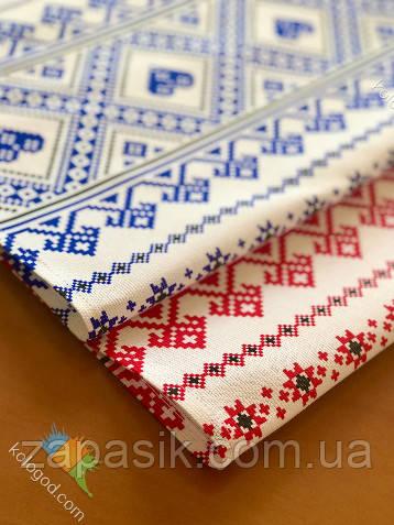 Рушник В Украинском Стиле Хлопковый Рушник С Орнаментом Tirotex Красный И Синий 8 Шт В Упаковке Размер 71 х 42 См