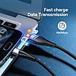 Оригинальный кабель UGREEN ED017 MicroUSB Fast Charge 3A быстрая зарядка 50873 Black, фото 2