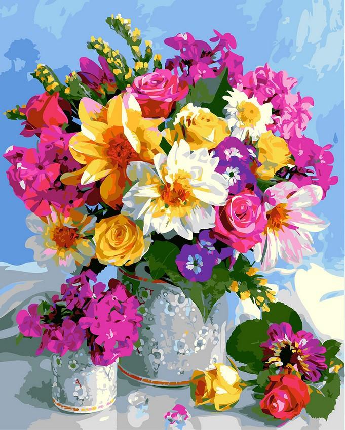 "Картина по номерам. Rainbow Art ""Роскошный букет"" GX5546-RA"