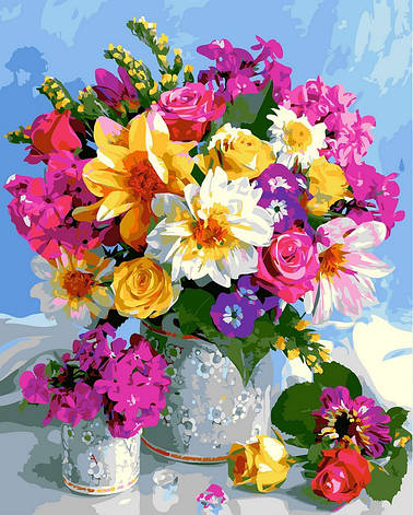 "Картина по номерам. Rainbow Art ""Роскошный букет"" GX5546-RA, фото 2"