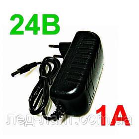 Блок питания (адаптер) 24В 1А 24Вт в пластиковом корпусе