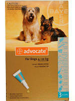 Краплі Advocate Адвокат від глистів, бліх, кліщів для собак вагою від 4 до 10 кг, 3х1 мл 134.0415