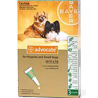 Краплі Advocate Адвокат від глистів, бліх, кліщів для собак вагою до 4 кг, 3х0.4 мл 134.0417