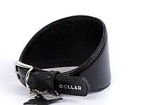 Ошейник для борзых собак COLLAR GLAMOUR без украшений, ширина 20мм, длина 34-40см черный 34671
