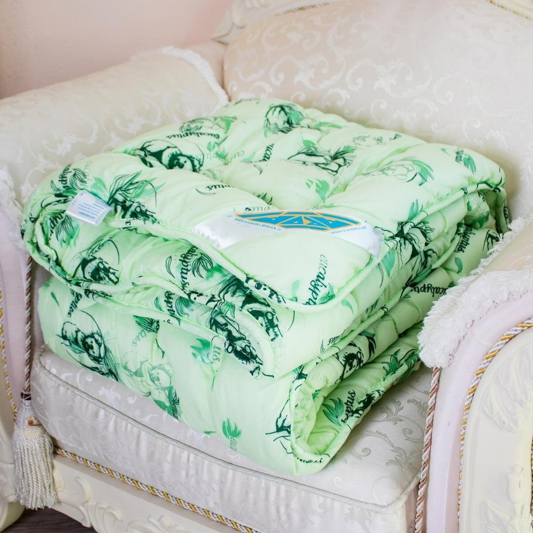 Одеяло Arda «Eucalyptus» салатовое с рисунком 175х215