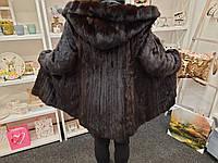 Норковая шуба с капюшоном 42 44 46 размер натуральная норка норковая шуба из норки рассрочка 0%