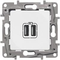 Розетка USB двойная Белый ETIKA LEGRAND 672294