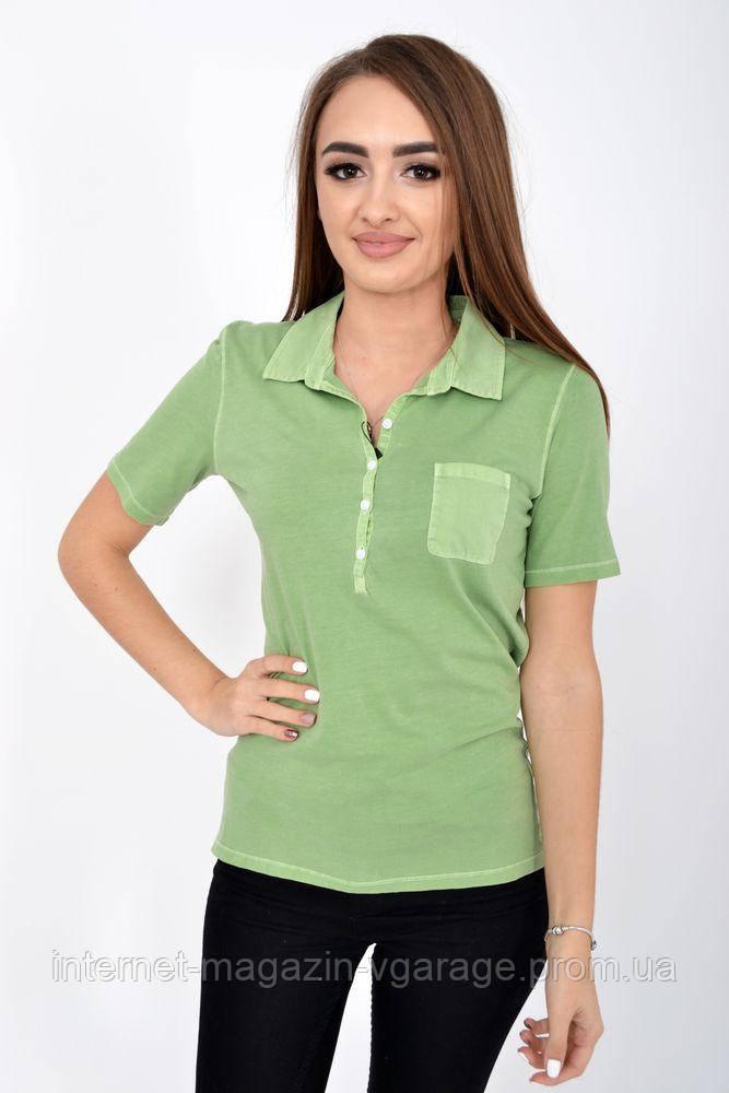 Поло женское 516F439-3 цвет Салатовый варенка